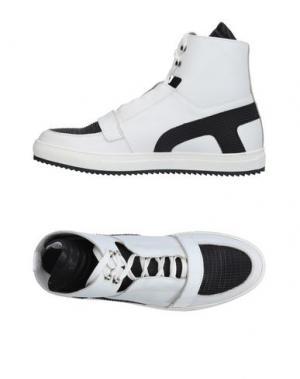 Высокие кеды и кроссовки YES LONDON. Цвет: белый