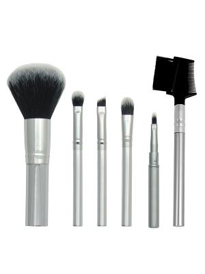 Royal & Langnickel CHIQUE Synthetic Everyday Set. Набор синтетических кистей для макияжа (6шт ) Royal&Langnickel. Цвет: серебристый