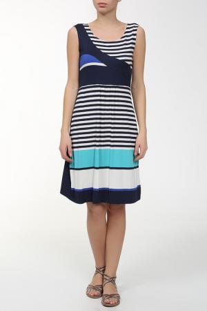 Платье Massana. Цвет: синий