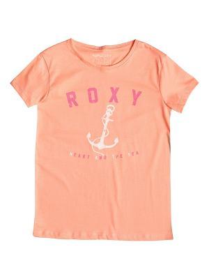 Футболка ROXY. Цвет: бежевый