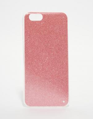 SIGNATURE Чехол с блестками для iPhone 6. Цвет: розовый