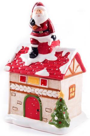 Шкатулка Домик Christmas. Цвет: мультицвет