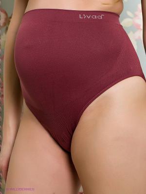 Дородовый бандаж бесшовный Livaa. Цвет: темно-бордовый