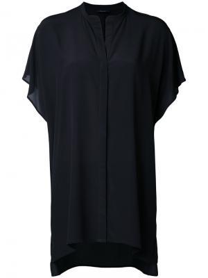 Рубашка с короткими рукавами Roberto Collina. Цвет: чёрный