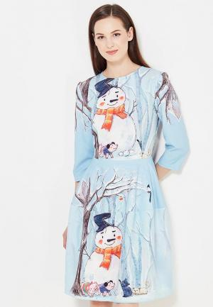 Платье Мария Браславская. Цвет: голубой