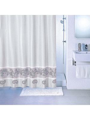 Штора для ванной Milardo. Цвет: серый