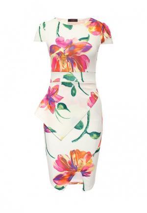 Платье Edge Clothing. Цвет: разноцветный