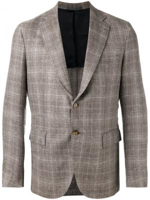 Блейзер с нагрудными карманами Eleventy. Цвет: коричневый