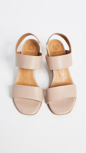 Bask Block Heel Sandals Coclico Shoes