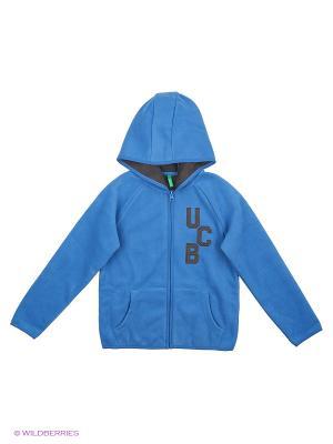 Толстовка с капюшоном United Colors of Benetton. Цвет: синий, голубой, темно-синий