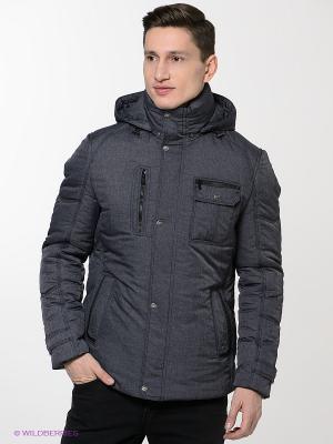 Куртка Absolutex. Цвет: синий, серый