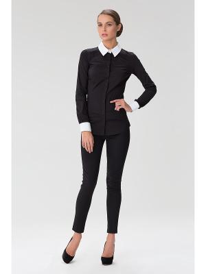 Женская блузка с прозрачной спиной INDIGIRA. Цвет: черный