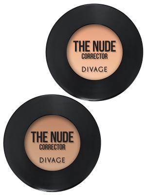 Набор №82 корректор для лица кремовый concealer the nude тон 01,03 DIVAGE. Цвет: кремовый, светло-бежевый
