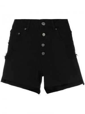 Джинсовые шорты с завышенной талией Anine Bing. Цвет: чёрный