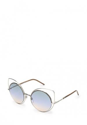 Очки солнцезащитные Marc Jacobs. Цвет: серебряный