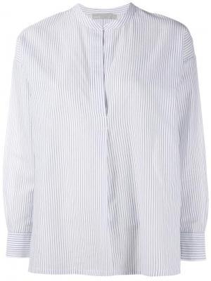 Полосатая блузка с разрезом спереди Vince. Цвет: синий