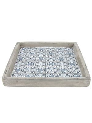 Тарелка декоративная RICH LINE Home Decor. Цвет: серый