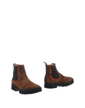 Полусапоги и высокие ботинки PÀNCHIC. Цвет: коричневый