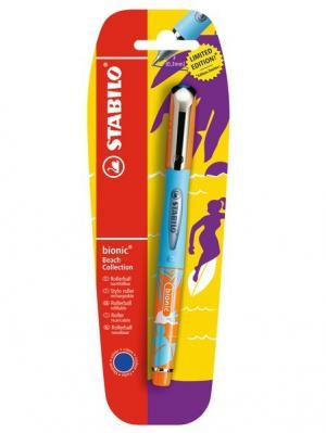 Ручка BIONIC BEACH оранж/син в бл Stabilo. Цвет: оранжевый