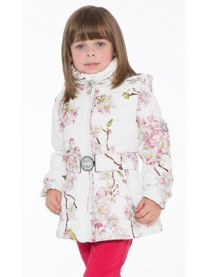 Куртка Pulka. Цвет: белый, розовый