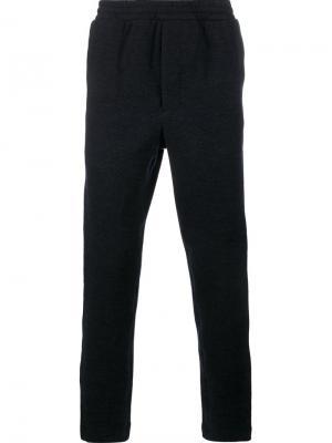 Твидовые спортивные штаны Ami Alexandre Mattiussi. Цвет: синий