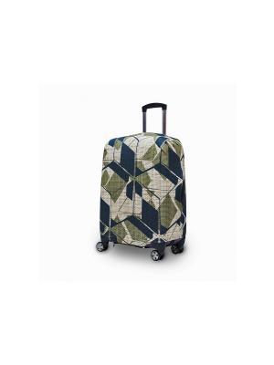 Чехол  для чемодана модель Travel Suit ECO Military Fancy Armor. Цвет: зеленый