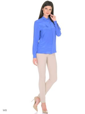 Блузка VipDressCode. Цвет: синий