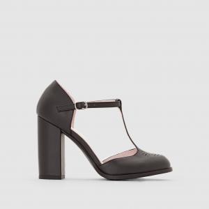 Туфли с ремешком на высоком каблуке MADEMOISELLE R. Цвет: черный