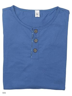 Пижама мужская (лонгслив,брюки) MARSOFINA. Цвет: синий