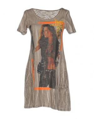 Короткое платье ATHLETIC VINTAGE. Цвет: голубиный серый