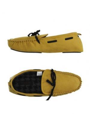 Домашние туфли ALTO MILANO. Цвет: желтый