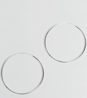 ASOS Серебряные серьги-кольца 60 мм. Цвет: серебряный