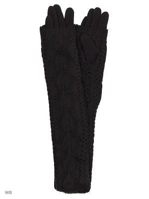 Перчатки женские двойные длинные Cascatto. Цвет: черный