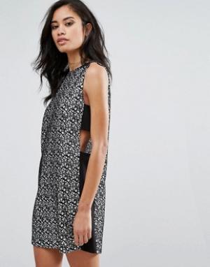 Hedonia Платье-туника со вставками по бокам. Цвет: черный
