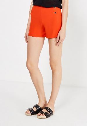 Шорты oodji. Цвет: оранжевый