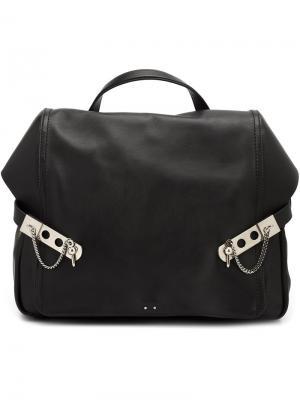 Рюкзак с пряжками Anthony Vaccarello. Цвет: чёрный
