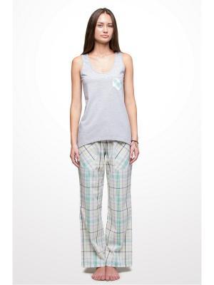 Пижама Косичкина. Цвет: белый, зеленый, салатовый, серый, темно-серый