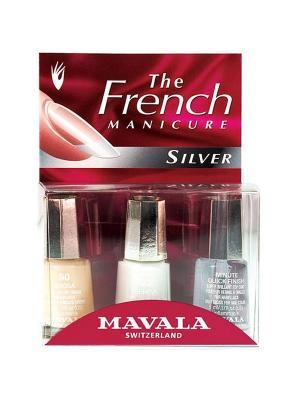 Набор французского маникюра Серебряный ноготок Mavala. Цвет: белый, молочный