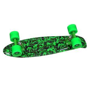 Скейт мини круизер  Camo Black/Green/Green 22 (55.9 см) Turbo-FB. Цвет: черный,зеленый,камуфляжный