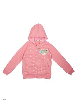 Толстовка Kidly. Цвет: бледно-розовый, розовый