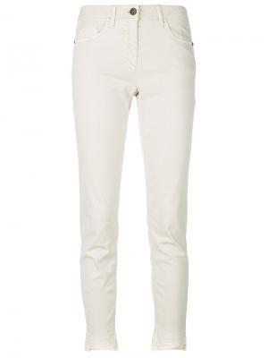 Укороченные брюки Luisa Cerano. Цвет: телесный