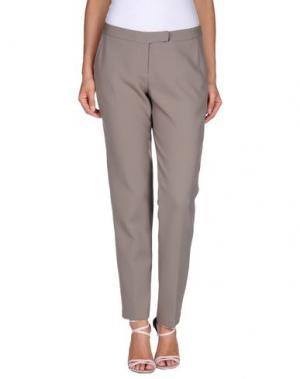 Повседневные брюки CAMICETTASNOB. Цвет: серый