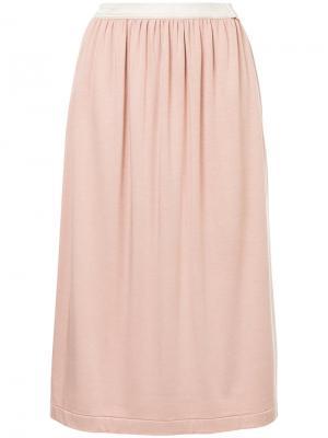 Прямая юбка миди Theatre Products. Цвет: розовый и фиолетовый