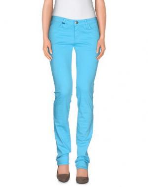 Повседневные брюки DON WASH. Цвет: бирюзовый