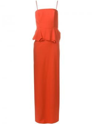 Корсетное платье Chalayan. Цвет: красный