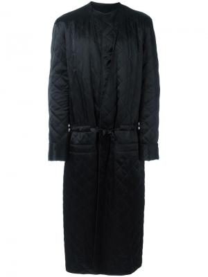 Пальто с шалевыми лацканами Haider Ackermann. Цвет: чёрный