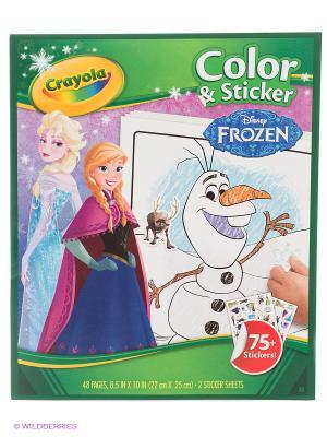 Раскраска Холодное сердце с наклейками Crayola. Цвет: зеленый