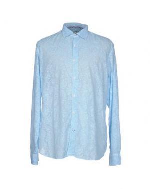 Pубашка GANESH. Цвет: небесно-голубой