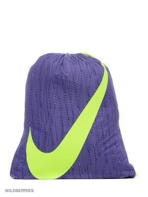 Рюкзак NIKE YA GRAPHIC GYMSACK. Цвет: фиолетовый, серый