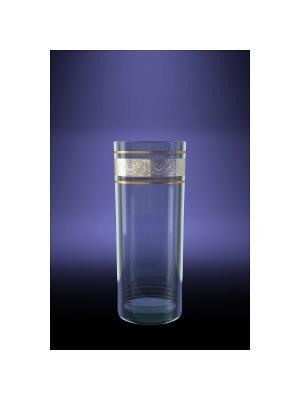 Набор 6 стаканов для сока с рисунком первоцвет Гусь-Хрустальный. Цвет: прозрачный